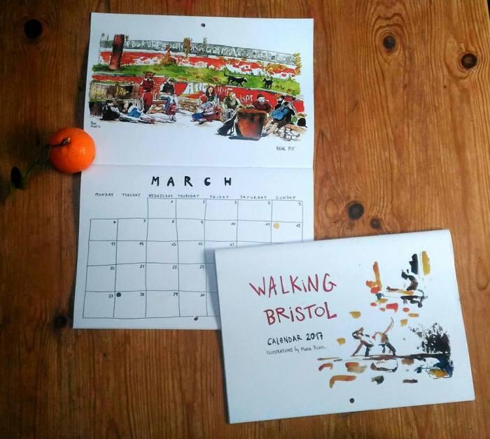 Calendario de Bristol hecho por una española