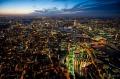 Londres de noche, desde el aire
