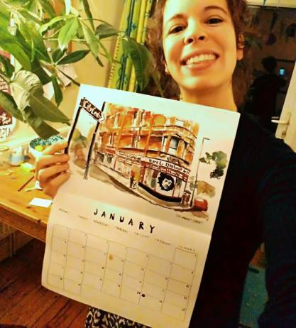 María Pichel, la ilustradora española que ha creado el calendario de Bristol