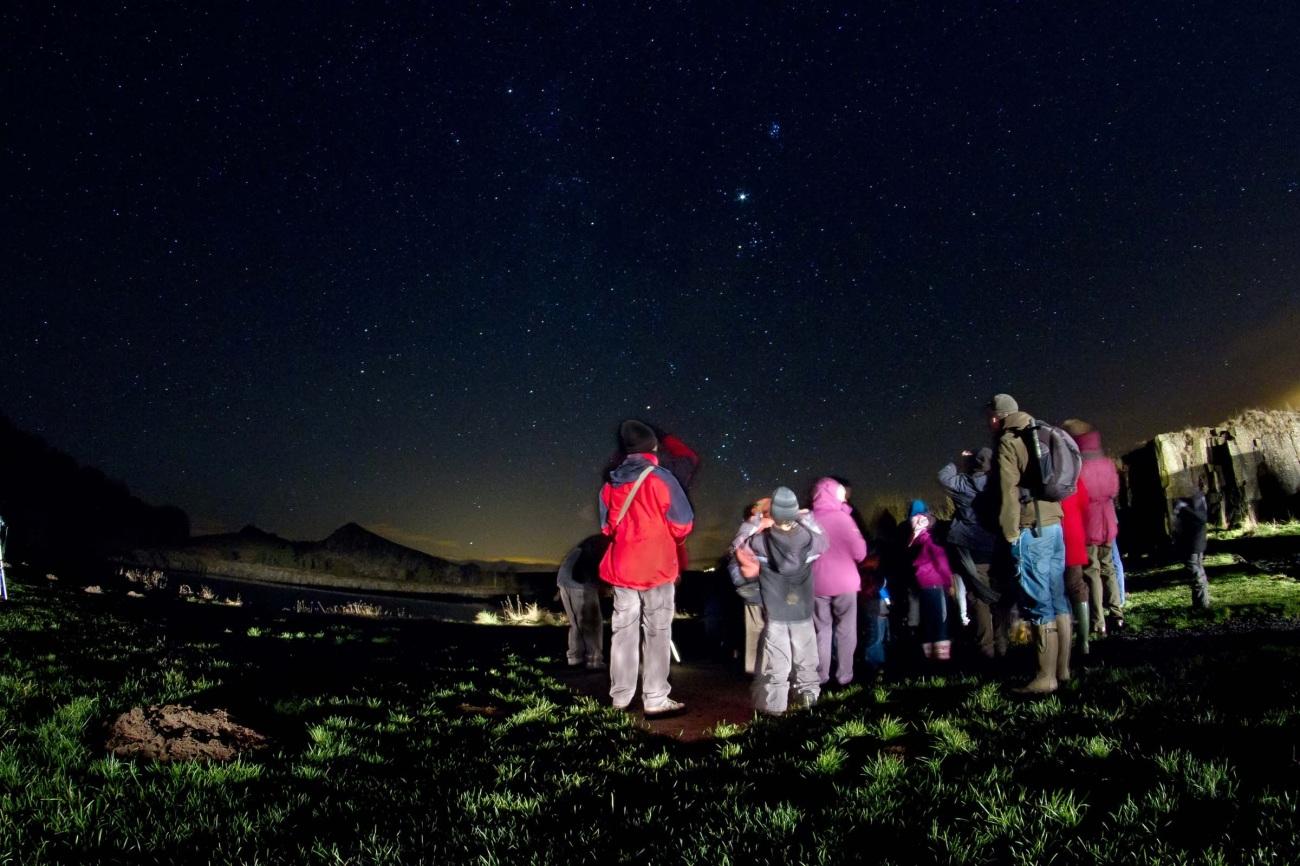 Estrellas en el parque de Northumberland