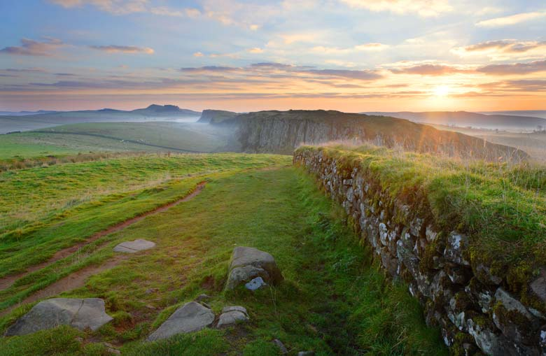 La muralla de Steel Rigg, en Northumberland