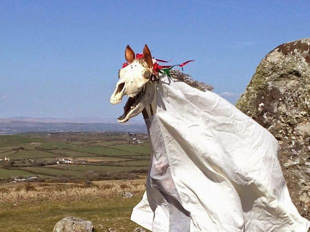 Mari Lwyd, la calavera de yegua de Gales