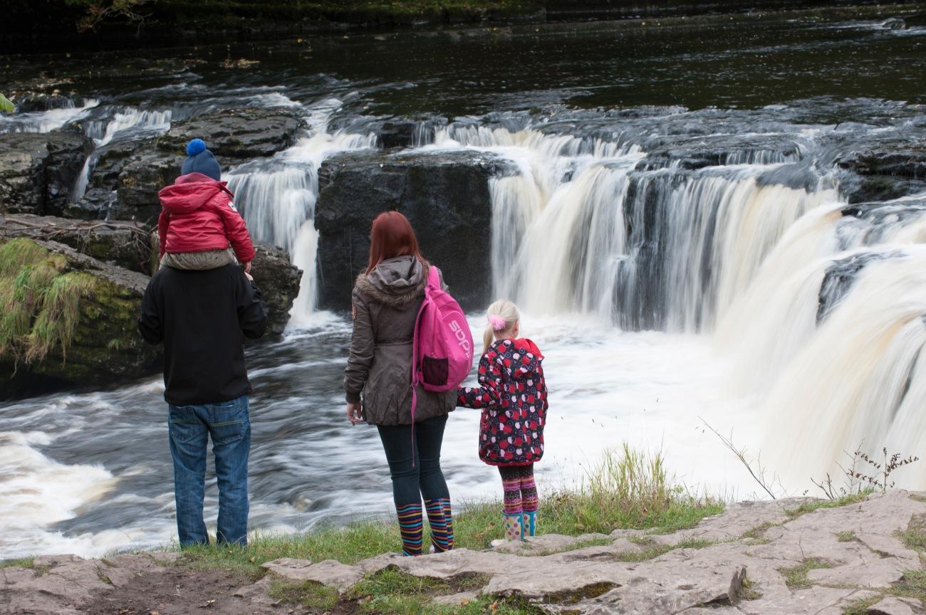 Las cascadas Aysgarth, en Yorkshire