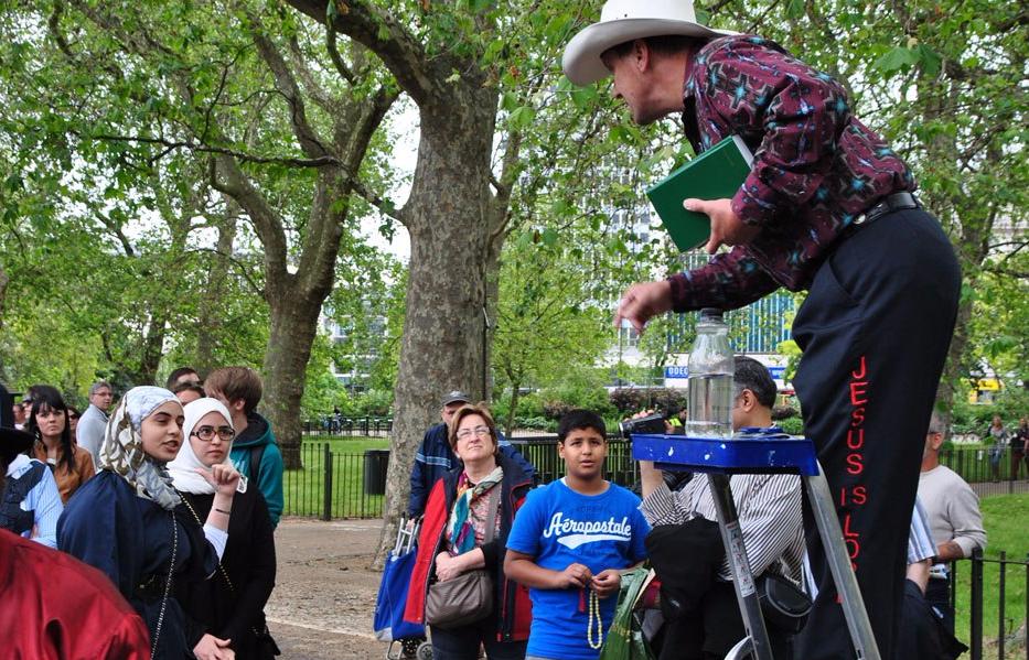 Predicados y charlatanes en Speaker's Corner de Hyde Park