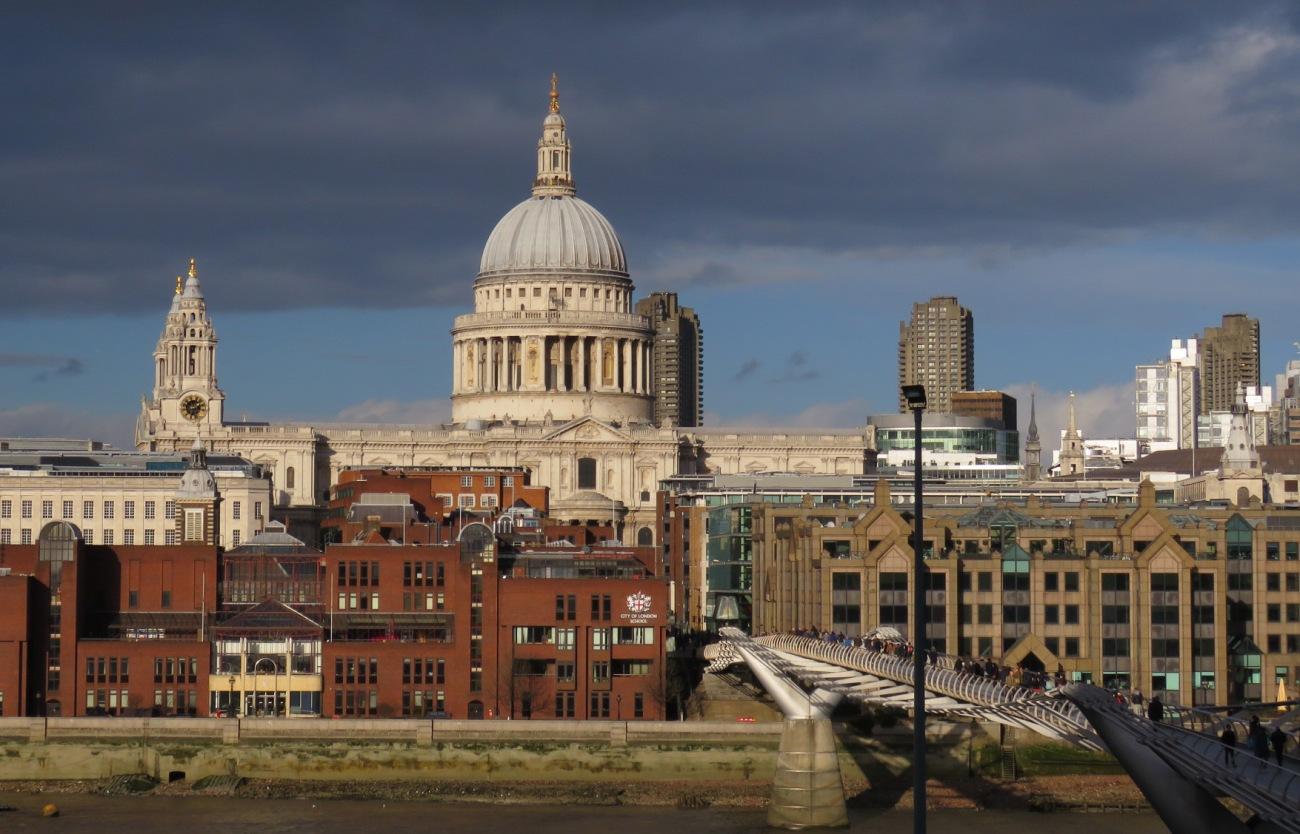 La catedral de St Paul desde la Tate Modern