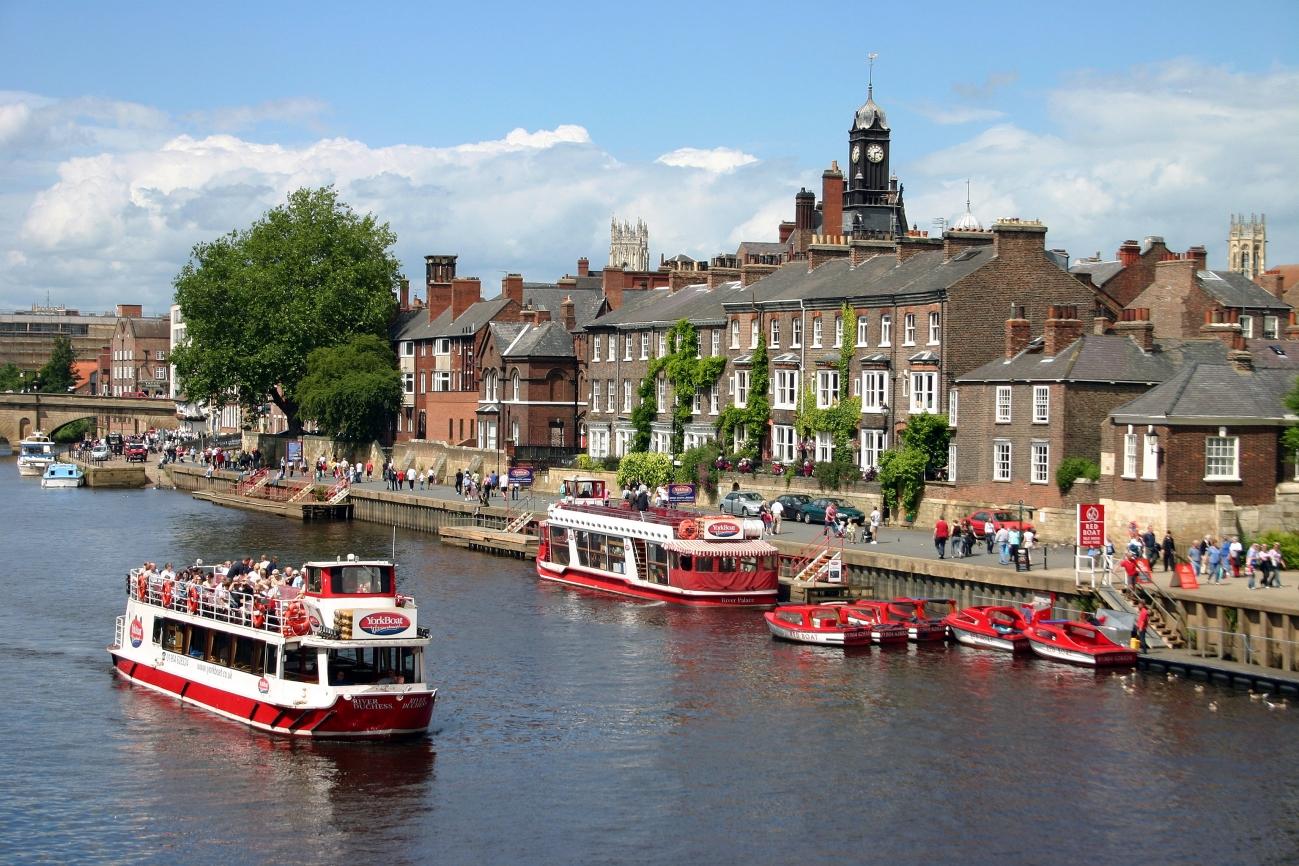 El río Ouse, en York