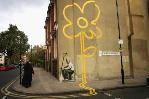 Yellow Lines Flower Painter, London
