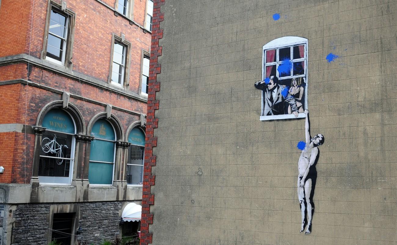 Man Hanging From Window, Bristol