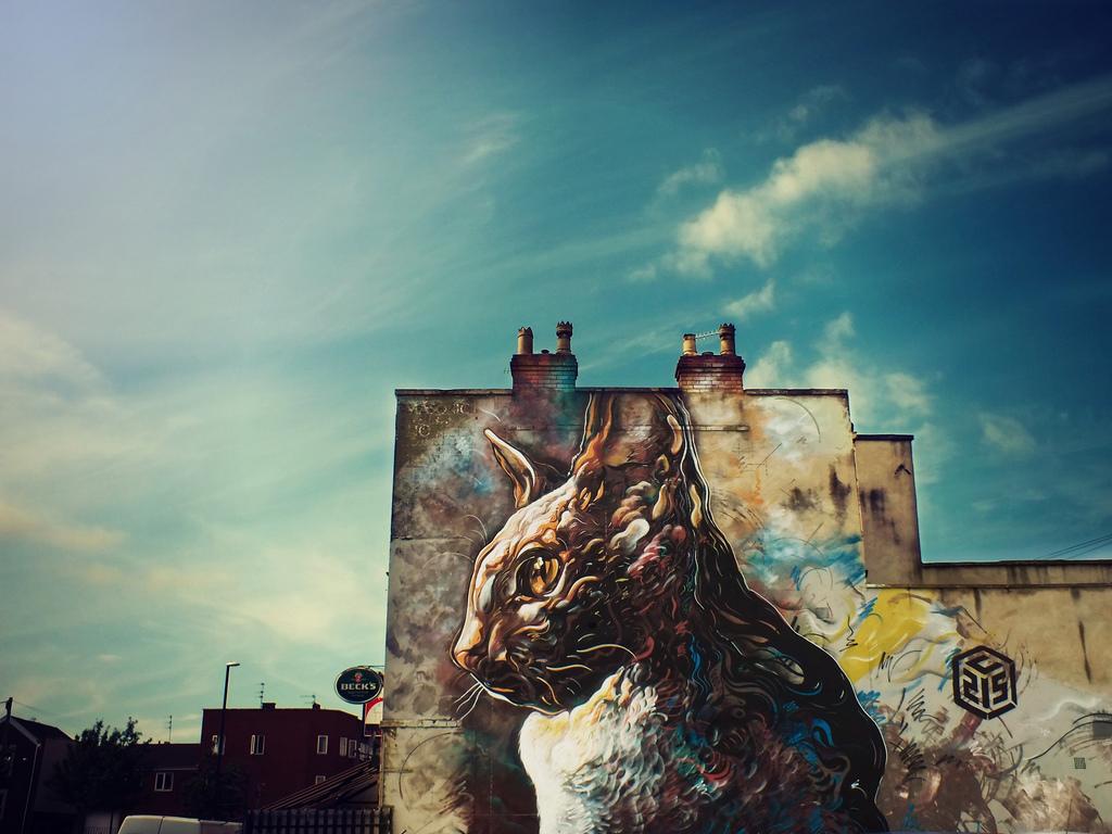 Uno de los graffitis del barrio de Bedminster, en Bristol