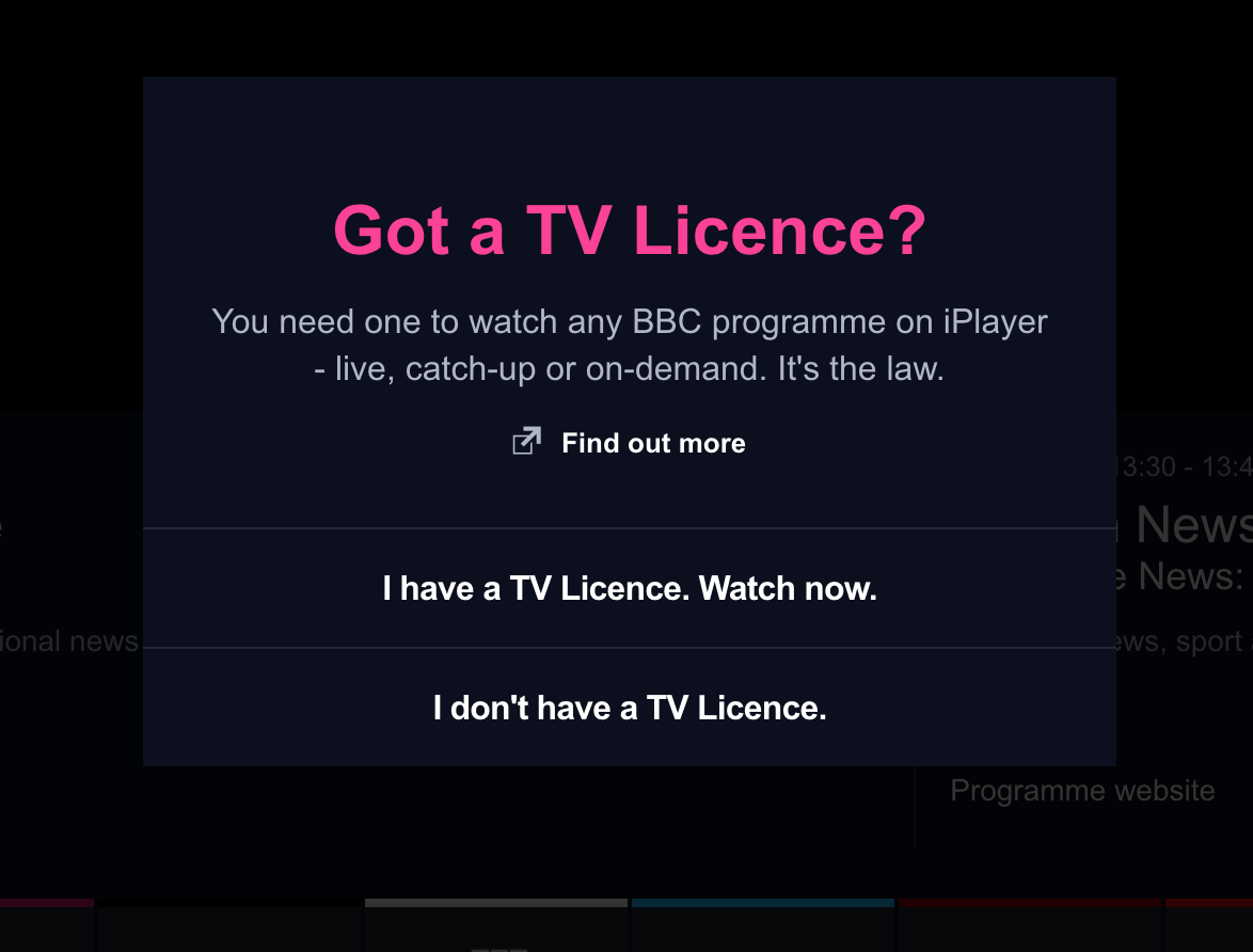 Got a TV Licence - BBC iPlayer