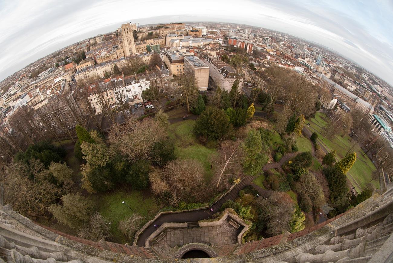 Vistas de Bristol desde la Cabot Tower