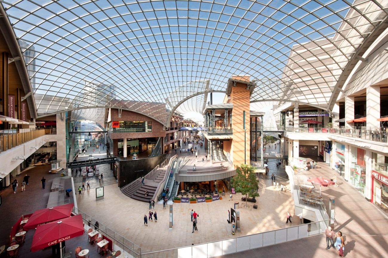 El centro comercial Cabot Circus de Bristol