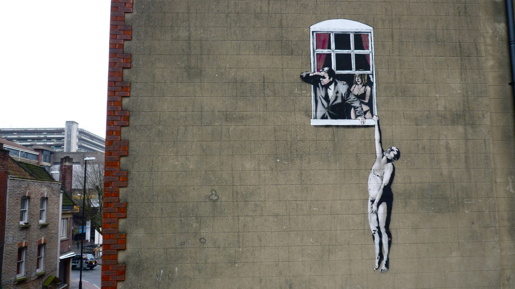 Grafiti de Banksy en Park Street, Bristol