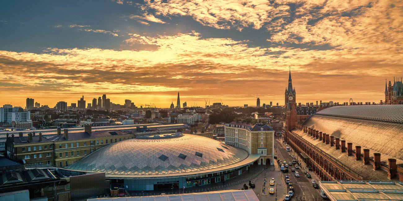 Peter Coughlan -- King's Cross St Pancras - London Sunrise