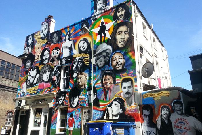 Famoso graffiti en Prince Albert, Brighton