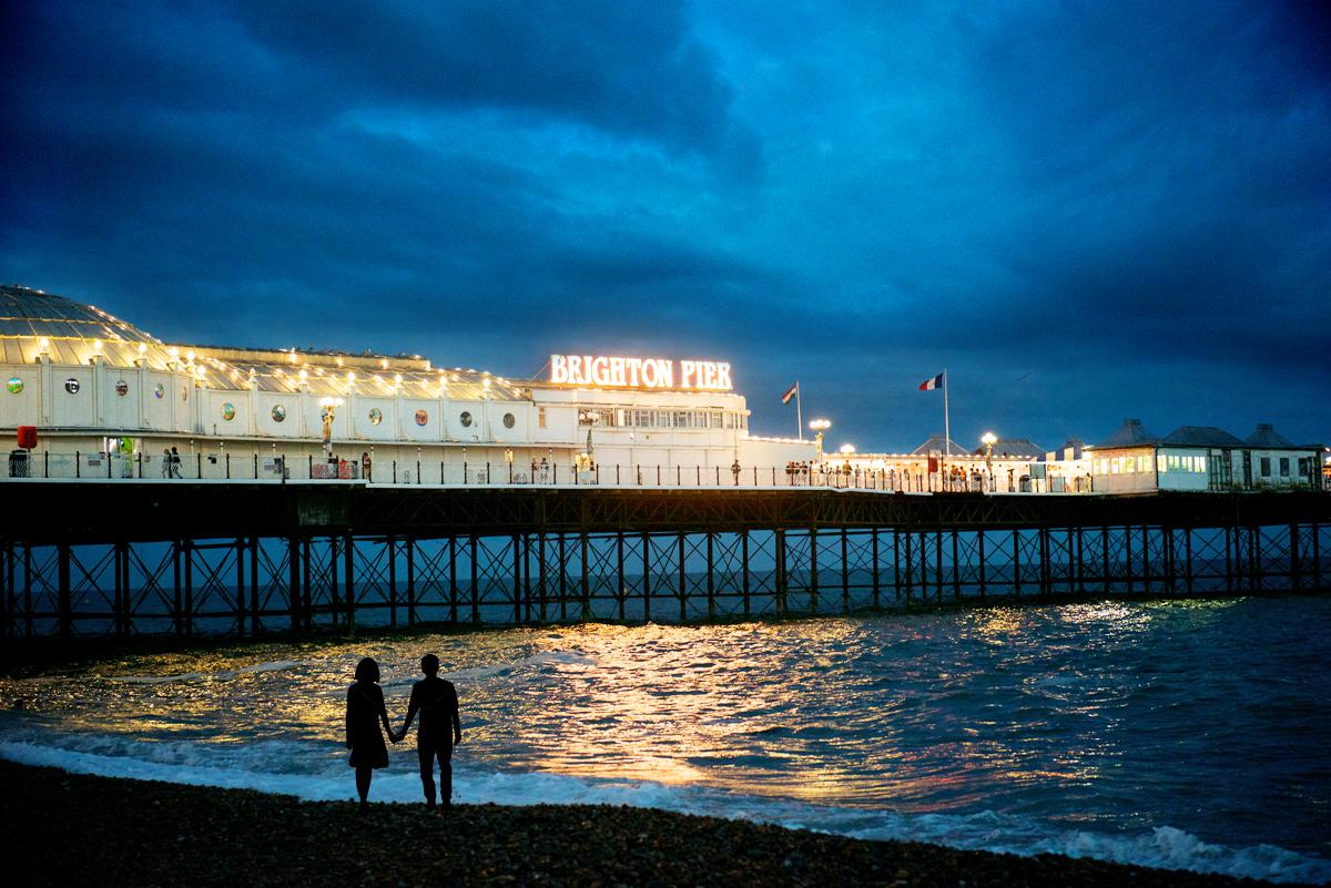 El Brighton Pier, con su feria al final
