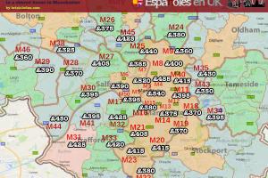 Precio habitaciones en casas compartidas de Manchester
