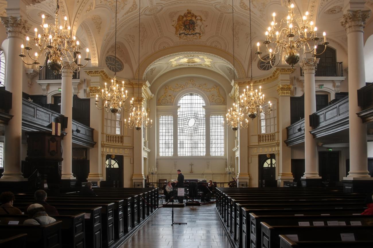 St Martin-in-the-Fields es una iglesia de Londres que acoge actuaciones de música clásica