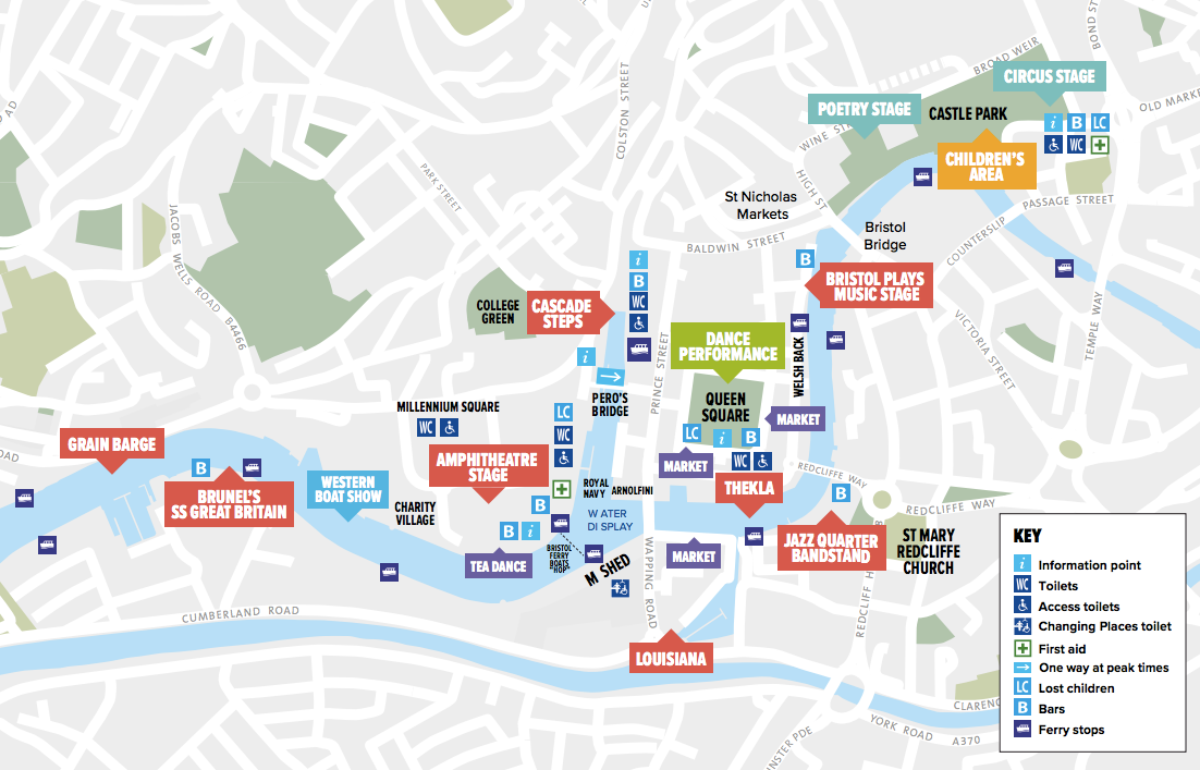 Bristol Harbour Festival 2017 map