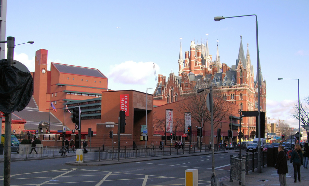Jim Linwood -- The British Library and St Pancras Station, London
